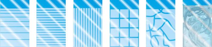 Diseños cristales matizados